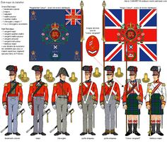 (north Gloucestershire) Regiment of Foot Colour Party British Army Uniform, British Uniforms, British Soldier, Waterloo 1815, Battle Of Waterloo, Military Art, Military History, Military Uniforms, Military Flags
