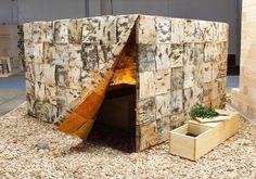 Birchbark sauna in Finland