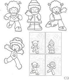 cute little kids Seasons Activities, Educational Activities, Free Printables, Preschool, Album, Comics, Children, Drawings, Calendar