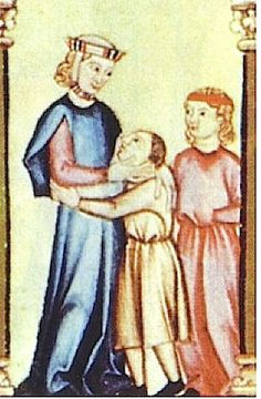 1275. Cantigas de Santa María de Alfonso X el Sabio, Biblioteca del Monasterio de San Lorenzo de El Escorial, Madrid (detalle)