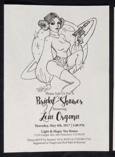 Star Wars Bridal Shower Invitation Princess by DreamLetterPrints