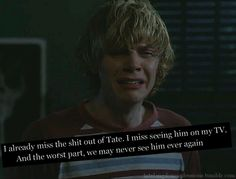 Ohh we may see Tate again, I hope Evan can pull off how youthfulness & American Pride, American Horror Story, Movies Showing, Movies And Tv Shows, Tate Ahs, British America, Films Netflix, Tate And Violet, Peter Maximoff