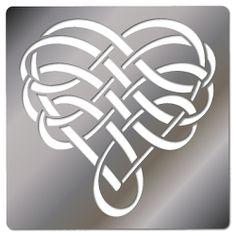 Embossing Stencil, Heart Weave