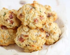 Cookie Recipes 51658 Bacon cheese cookies with thermomix. Here is a delicious recipe for Bacon Cheese Cookies, easy to prepare at home with the Thermomix. Buttery Biscuits, Drop Biscuits, Cheese Biscuits, Cheddar Cheese, Mayonaise Biscuits, Easy Biscuits, Fluffy Biscuits, Homemade Biscuits, Bacon Cookies