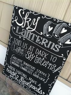 Hey, I found this really awesome Etsy listing at https://www.etsy.com/listing/190176635/handwritten-20x24-sky-lanterns-sign