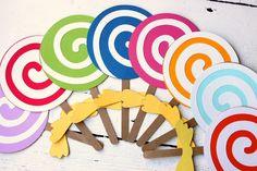 Lollipop Invitation Custom Kids Candy Birthday Invitation Personalized Invite Lollipop Candy Shop - Set of 10. $20.00, via Etsy.