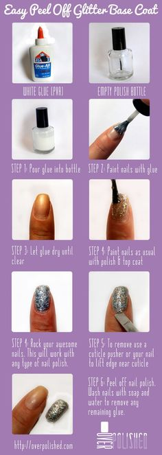 Awesome tip re: getting glitter off your nails!