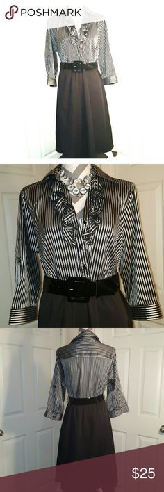 Silver and black dress, size 1X Silver and black dress, size 1X. $15  Always Authentic. Smoke-free home. No trades please. Happy shopping!! Don't forget to bundle and save 10%, Ohhh and feel free to make me a reasonable offer with that fabulous little offer button! ;) xoxoxo  P.S. Accessories are not included, interested in the entire outfit? just ask   Dresses