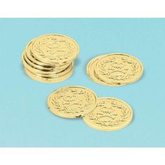 Share the treasure by using these plastic gold coins for party favors and decorations at your Jake and the Neverland Pirates birthday party. Includes 8 shiny go