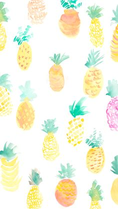 #Pineapple #Pattern / Download more #Fruity #iPhone #Wallpapers and #Backgrounds at @prettywallpaper