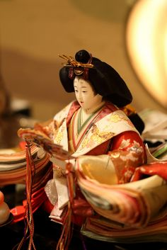 ひな人形 A Hina doll displayed on the Girl's Festival, Japan