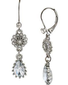STONE PEARL EURO DROP EARRING CRYSTAL accessories jewelry earrings fashion