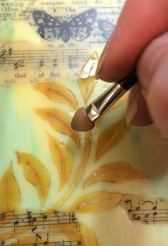 PaperArtsy: 2016 Topic 3 Encaustic Art {by Lin Brown} - Art Encaustic Painting, Painting Tips, Wax Art, Brown Art, Diy Wall Art, Art Techniques, Art Tutorials, Painting Inspiration, Altered Art