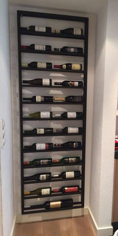 Wine Kitchen - Wijnrek 2 X 12 Stalenwijnrekken – Amazing Kitchen Decors Wine Rack Design, Cellar Design, Wine Rack Wall, Wine Wall, Wine Rack Inspiration, Garden Inspiration, Home Wine Cellars, Wine Cabinets, Wine Storage