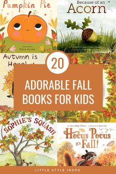 Fall Preschool, Preschool Books, Toddler Books, Childrens Books, Kid Books, Autumn Activities, Preschool Activities, Pumpkin Books, Fallen Book