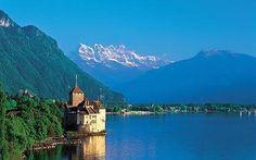 Le château de Chillon sur le lac Léman