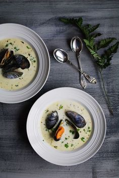 Creamy Mussel soup - My Nordic Kitchen