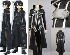 Kirito Kazuto Kirigaya Custom Cosplay Costume Outfit from Sword Art Online (SAO)
