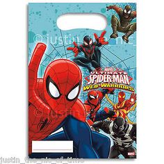 Marvel ultimate #spiderman #party loot bags boys job lot #plastic gift bags ,  View more on the LINK: http://www.zeppy.io/product/gb/2/121402986787/
