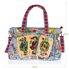 Oilily Lavender Playing Cards Baby Changing Bag / ChildsPlay