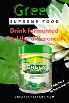 Drink fermented and feel the difference in your body. Green supreme food is a concentrate of fermented vegetables. Fermented food is ideal for the body, read more here! [May contain an affiliate link, but it does not affect your price in any way. Detoxify Your Body, Cleanse Your Body, Body Detox, Vegetarian Lifestyle, Healthy Lifestyle, Liver Flush, Detoxification Diet, Healthy Diet Recipes, Fermented Foods