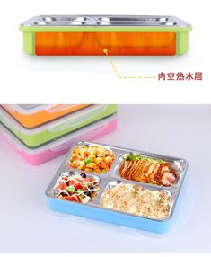 Stainless Steel Partitioned Lunch Box | School Lunch Box  #GinaxStore #Ecommerce Microwave Heating, School Lunch Box, Food Grade, Ice Cube Trays, Safe Food, Ecommerce, Stainless Steel, Store, Easy