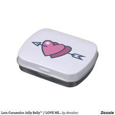 Lata Caramelos Jelly Belly™ / LOVE HEARTS Jarrones De Dulces