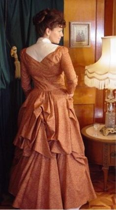 ef0267c006e Recollections  Calico Polonaise and Bustle. WesternSpice · Victorian  Women s Dress