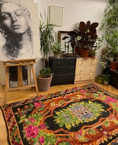 Beautiful handmade rug, made about 60 years ago. This rug is made by hand, the wool also was tint by hand using traditional methods from that area ( South Romania). Bohemian Design, Rug Making, Wool Rug, Hand Weaving, Carpet, Traditional, Rugs, Handmade, Beautiful