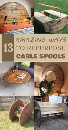 13 Amazing Ways to Repurpose Cable Spools