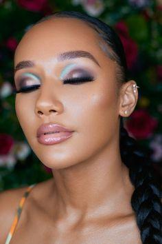Black Bridal Makeup, Bride Makeup, Wedding Makeup, White Eyeshadow, Eyeshadow Looks, Gorgeous Makeup, Pretty Makeup, Smokey Eyeliner, Eyebrow Makeup Tips
