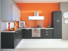 Modern High Gloss L Shaped Kitchen
