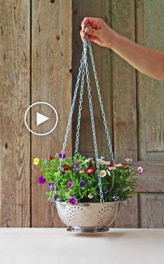 Blumenampel selber machen