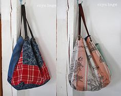 ErynBags / Bag No. 201 Handmade Bags, Drawstring Backpack, Backpacks, Pocket, Handmade Purses, Handmade Handbags, Drawstring Backpack Tutorial, Women's Backpack, Backpack