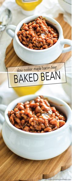 Slow Cooker Brown Sugar and Mustard Baked Beans with Bacon