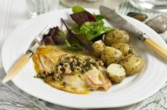 Meals under 300 calories - Quick-fry lemon sole with shrimp and caper butter - goodtoknow