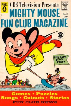 CBS Television Presents Mighty Mouse Fun Club Magazine, No. 5, 1958