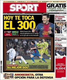 Los Titulares y Portadas de Noticias Destacadas Españolas del 16 de Febrero de 2013 del Diario Deportivo SPORT ¿Que le parecio esta Portada de este Diario Español?