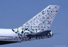 Beautiful intricate pattern on the tail of this British Airways B747-400 #jorgenca