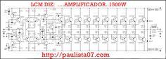 MEDIDAS DE LA PLACA REAL ETAPA DE POTENCIA 6.5cm x 15.5cm POTENCIAS DE 600W1200W CON 16 TRANSISTORES COMPLEMENTARIOS IMPEDANCIAS DE 8 Ohm2 Ohm SAIDA INTEGRADA DE ALIMENTACION ETAPA DE POTENCI… Crown Amplifier, Valve Amplifier, Car Audio Amplifier, Class D Amplifier, Wireless Speakers, Amplificador 12v, Electrical Engineering Books, Diy Subwoofer, Circuit Board Design