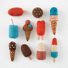 cute Felt ice Cream popsicles