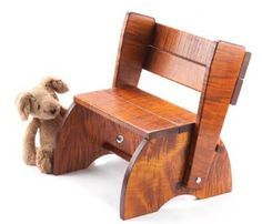 made from recycled wood; What if we had some of the stored for extra kiddos? Summer project?