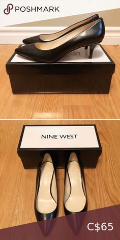 Shop Women's Nine West Black size 8 Heels at a discounted price at Poshmark. Description: Nine West Black Leather Pumps - Size 8 Great shoes in great condition. Leather Pumps, Black Leather, Nine West, Shoes Heels, Buy And Sell, Shop My, Loafers, Best Deals, Closet