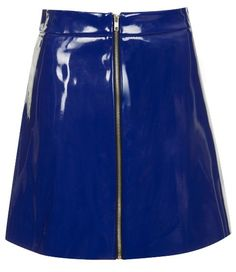 Vinyl A-line skirt, £42.00 Topshop topshop.com