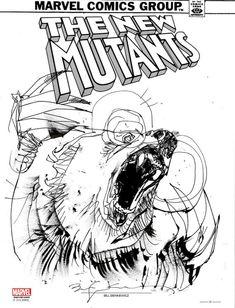 The New Mutants Demon Bear by Bill Sienkiewicz