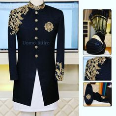 Add Glow to your Personality with best in textured fabric with classic embllishment, Specially designed to make memorable to your Big Day. Exclusively Available for orders at ☎️ For & inbox us OR Call/WhatsApp on OR Beige Suits Wedding, Sherwani For Men Wedding, Wedding Dresses Men Indian, Wedding Outfits For Groom, Wedding Dress Men, Sherwani For Boys, India Fashion Men, Indian Men Fashion, Marriage Dress For Men