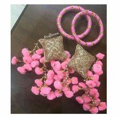Flower Jewellery For Haldi, Flower Jewelry, Fabric Jewelry, Bridal Jewelry, Silk Thread Bangles Design, Silk Thread Necklace, Gota Patti Jewellery, Saree Tassels Designs, Diwali Craft