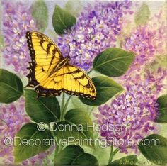 The Decorative Painting Store: Butterfly and Lilacs ePacket by Donna Hodson - Choose File Format, Newly Added Painting Patterns / e-Patterns
