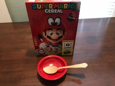 We got our hands on the Mario amiibo cereal, here's what it does Red Bowl, Nintendo News, Cereal, Oatmeal, Mario, Gaming, Hands, Photos, The Oatmeal