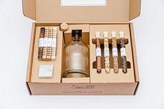 Aging & Flavor Coffret cadeau avec agings, botanicals & ice rocks pour spiritueux comme le whisky, gin, rhum, vodka, cocktails, etc.